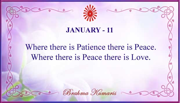Thought For The Day January 11