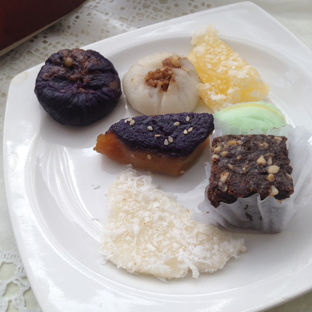 Desserts at the Purple Craves Cafe