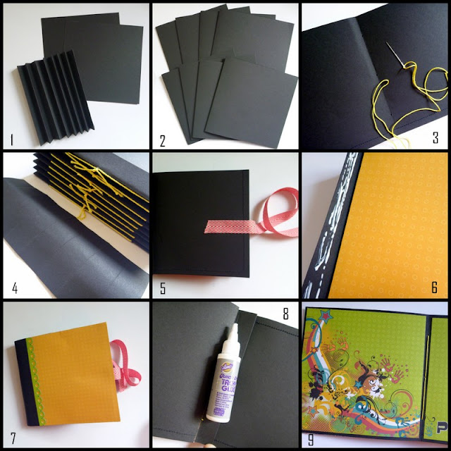 School Days Mini Album Step by Step Assembly by Dana Tatar