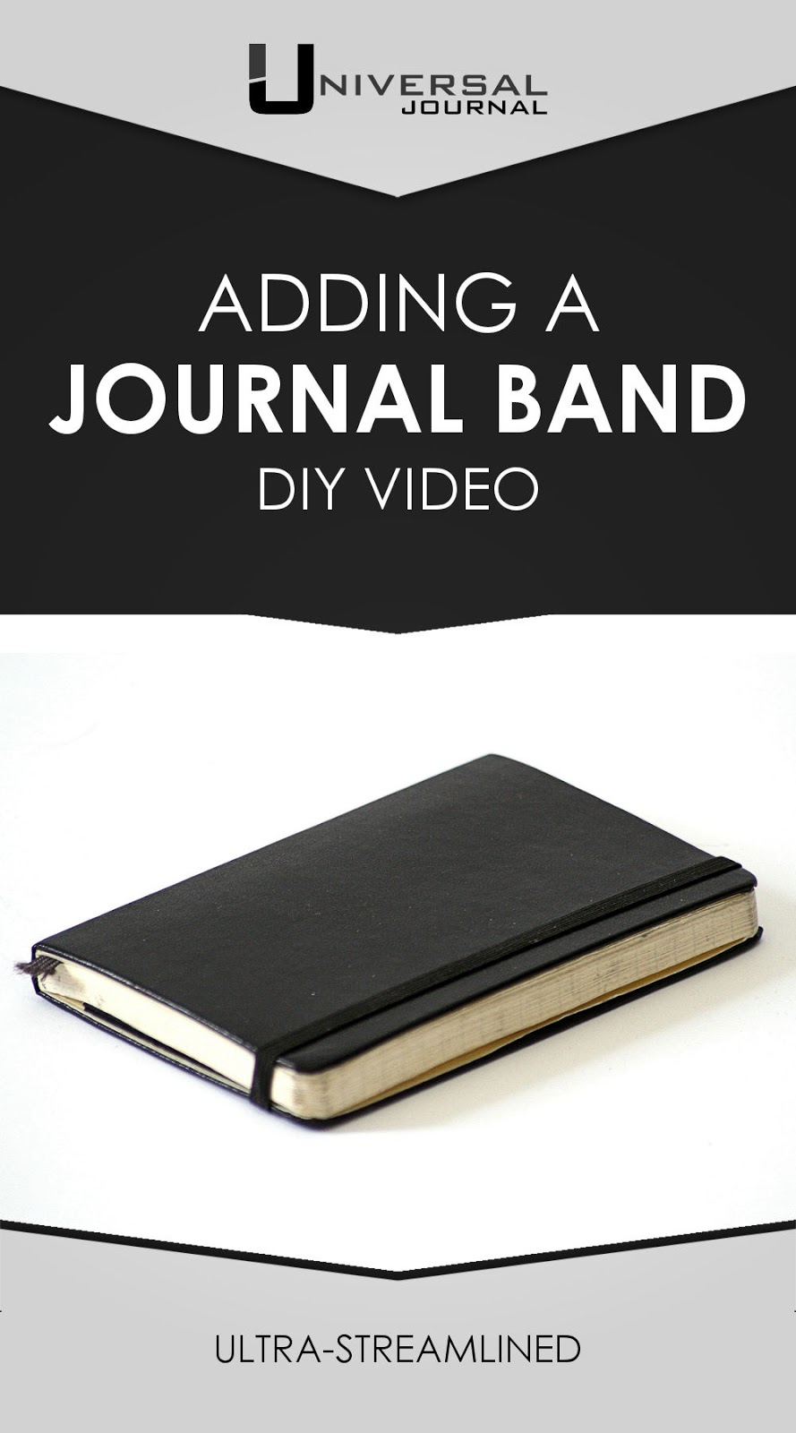 bullet journal diy adding an elastic band around your journal