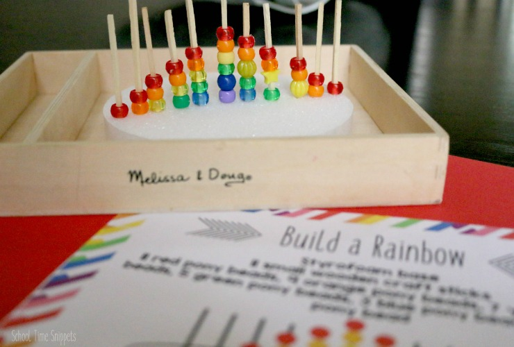 STEAM rainbow activity for preschool