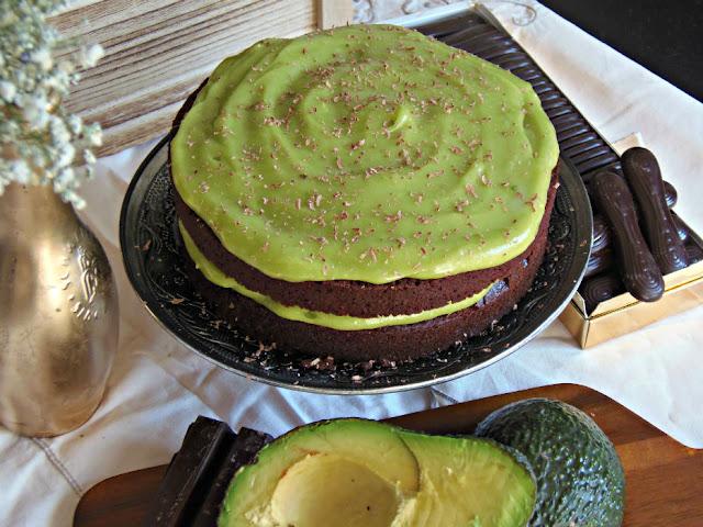 tarta de chocolate con aguacate