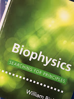 Biophysics: Searching for Principles, by William Bialek, superimposed on Intermediate Physics for Medicine and Biology.