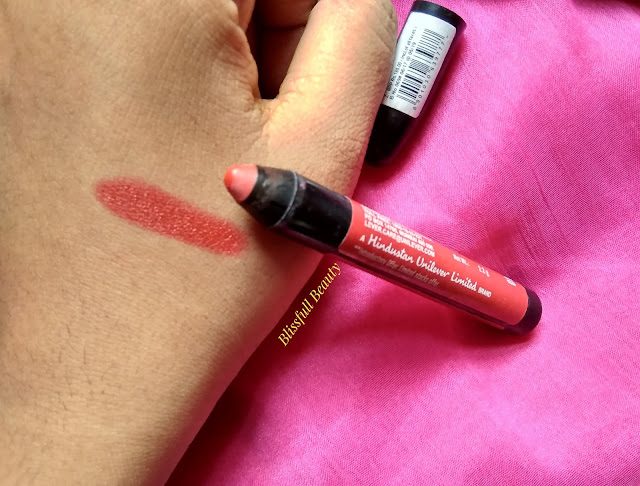 Lakme enrich lip crayon(shade 01 Berry Red) Review