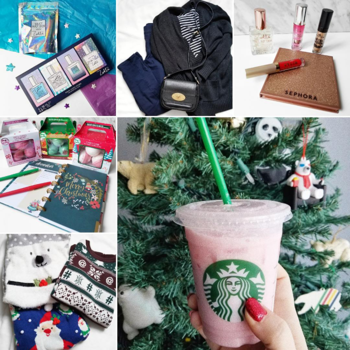 bblogger, bbloggers, bbloggerca, canadian beauty blogger, southern blogger, lifestyle, instamonth, beauty blog, old navy, christmas, outfit, ootd, zoella, holiday, christmas, 2018, sephora canada, november favorites, me! bath, me bath, bath bombs, ugly christmas sweaters, jysk, twitter sweater, starbucks, pink drink