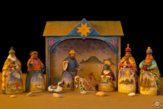 Cramer Imaging's professional quality fine art photograph of a Christmas Nativity scene with rocks in Pocatello, Bannock, Idaho