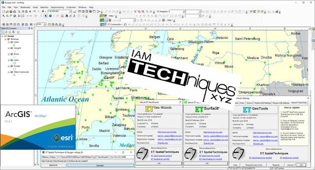 ET SpatialTechniques v11.3 for ArcGIS 10.4