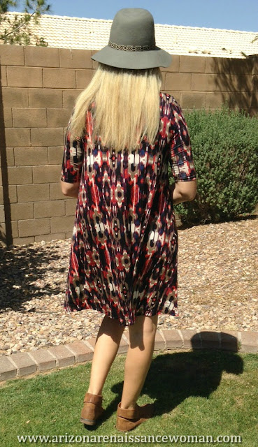 Puella Swing into Spring Dress - Ikat - Golden Tote Review - April 2016