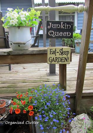 Chair Leg Garden Sign Hanger
