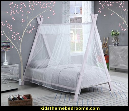 Tent style twin bed   outdoor theme bedroom ideas - camping theme bedroom decor  - backyard themed kids rooms  - bugs and critters theme bedrooms - Happy Camper little boys outdoor theme bedroom - tree wall decal - dog wall decal stickers - treehouse bed  treehouse theme bedrooms - camping room decor - camping theme room - Boy Scout Camp mural - backyard garden camping bedroom ideas - nature inspired bedding - nature wallpaper murals - plush critter toys  Backyard Camp out theme bedroom ideas