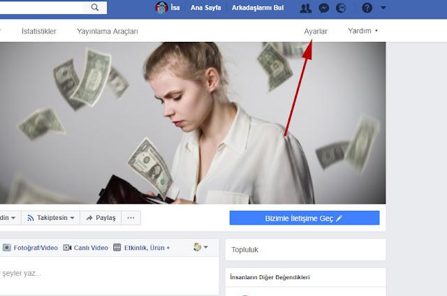 facebook sayfa ayarlar