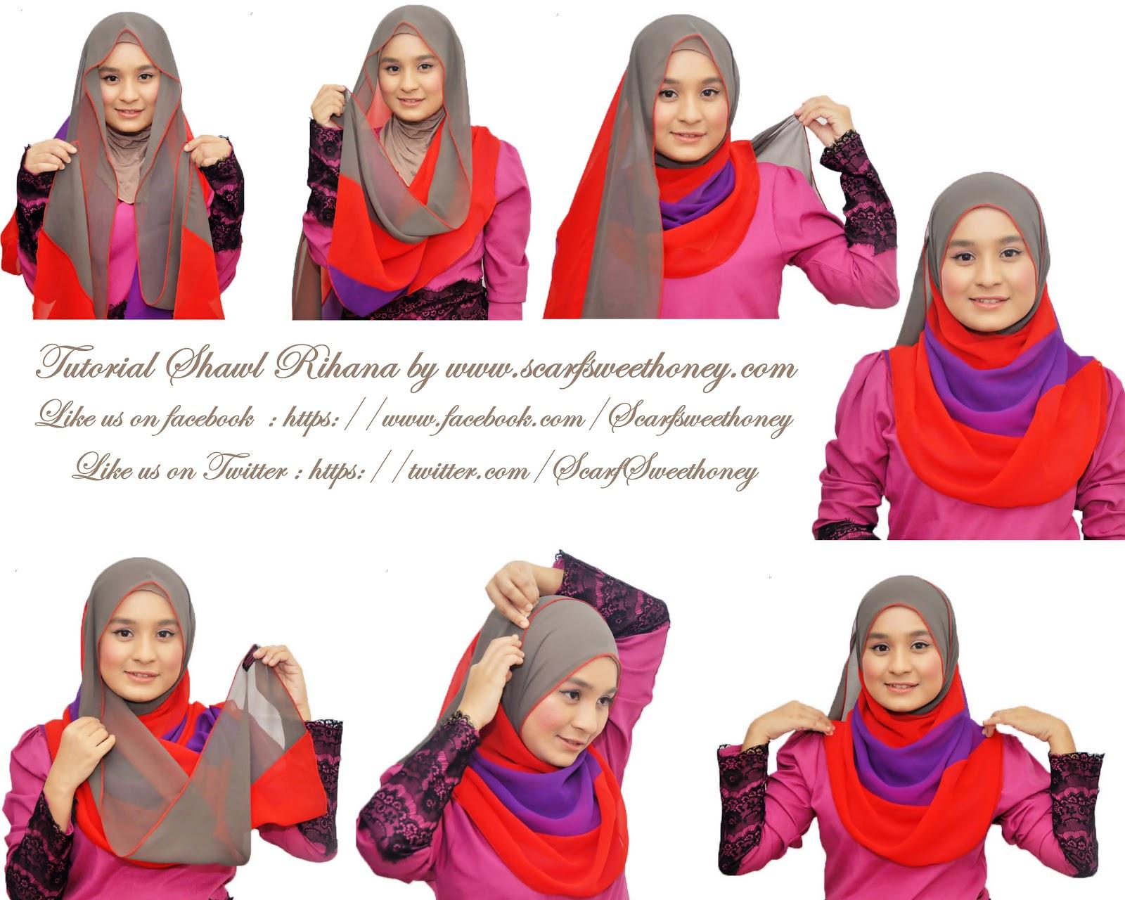 25 Ide Tutorial Hijab Pesta Unik Tahun 2017 Tutorial Hijab Terbaru