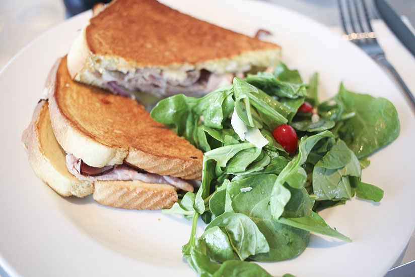 Gourmet Grill cheese and salad at Sono Cafe