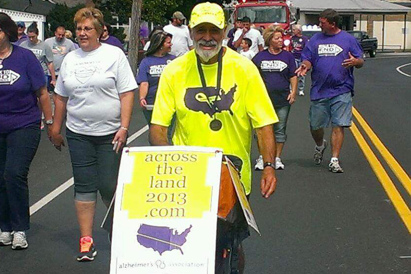 Jack Fusell Alzheimer's awareness running