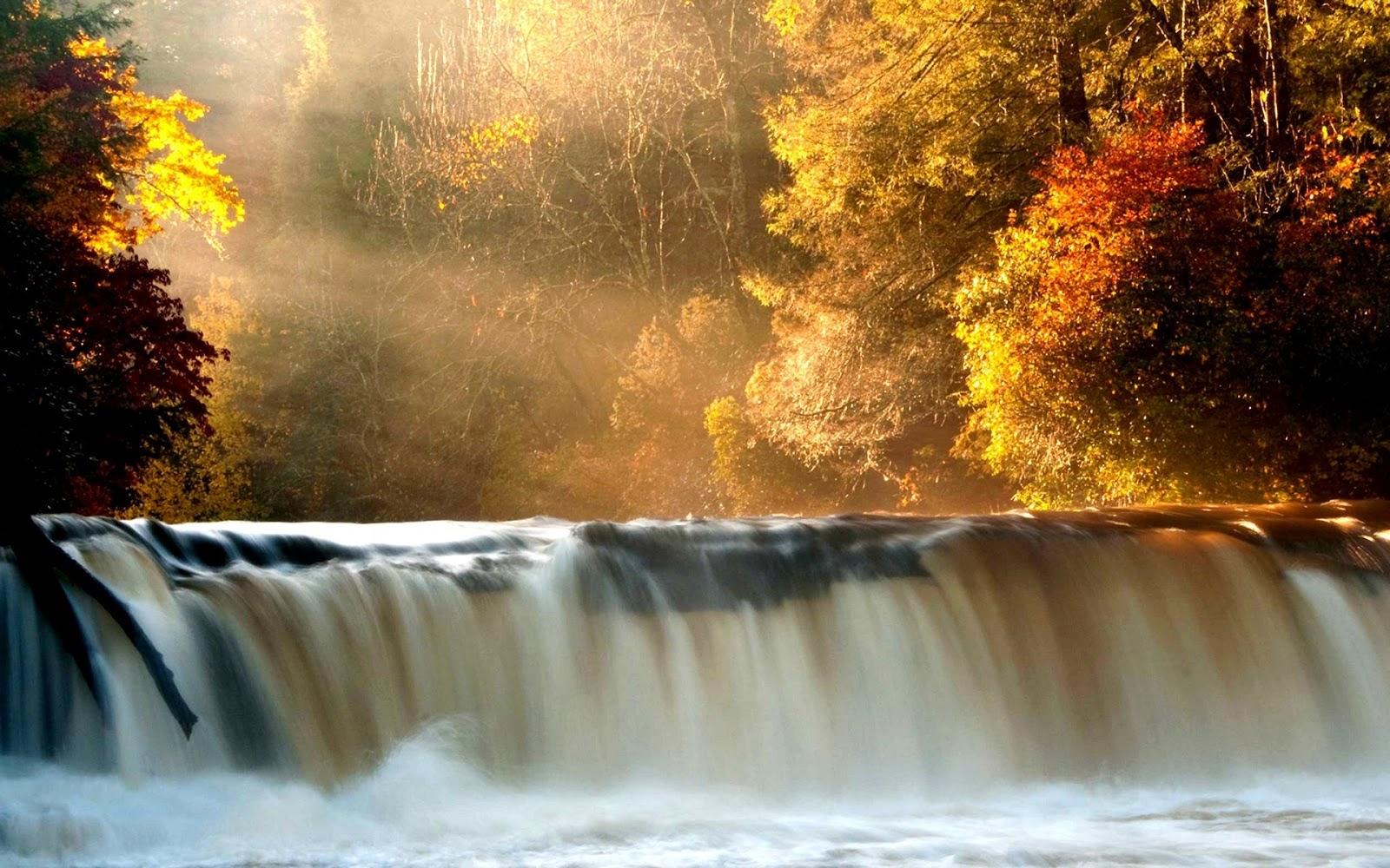Hình nền máy tính thác nước đổ đẹp mê mẩn nguời xem