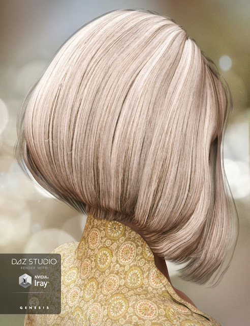 Ireland Hair for Genesis 3 Female