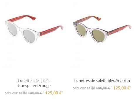 29c7101706e La rubrique Lunettes de Star de Zalando Privé propose des lunettes Gucci de  125€ à 189€. Des prix plus élevés que la moyenne ...en général ces  accessoires ...