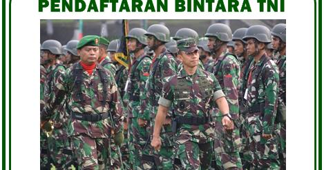Pendaftaran Calon Bintara TNI 2019-2020   Pendaftaran 2019