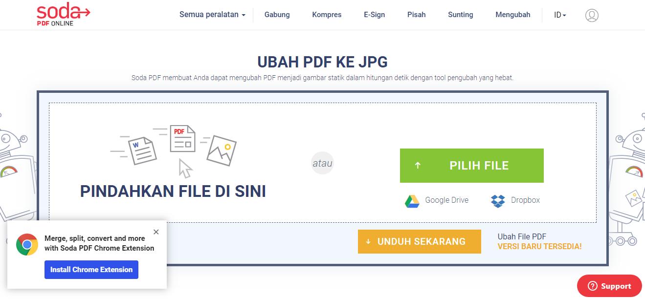 Cara mengubah PDF ke gambar dengan Soda PDF