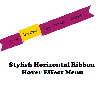 Add Ribbon Styled Navigation Menubar In Blogger
