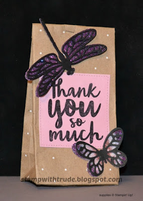 Thankful Thoughts, treat bag, Stampin' Up!, Stamp with Trude, thank you