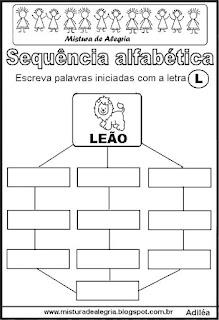 Sequência alfabética letra L