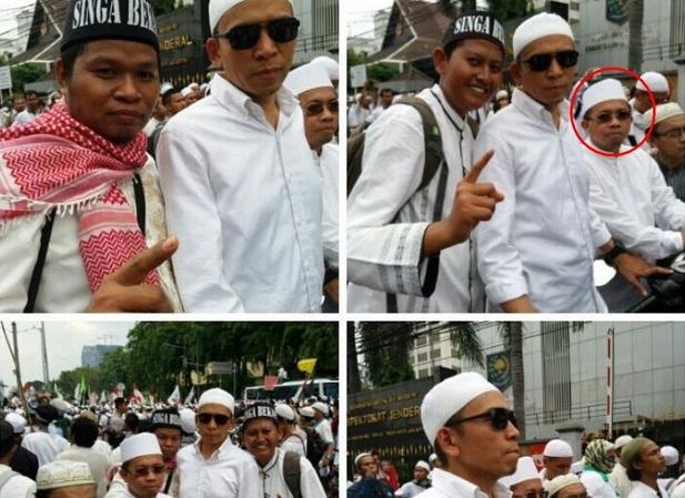 (Gubernur NTB, TGH M Zainul Majdi (kacamata hitam), dalam Aksi Bela Islam 411 di Jakarta)
