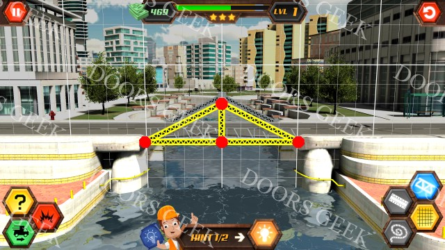 bridge construction simulator  easy  level 1