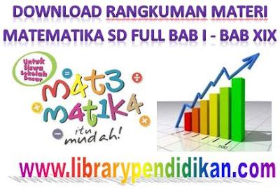Download Rangkuman Materi Matematika SD Full BAB I - BAB XIX