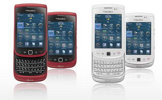 AT&T BlackBerry Torch now available in sunset red or white