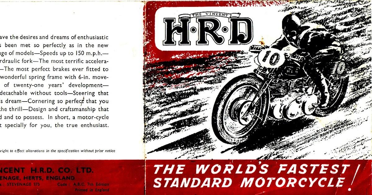 Red Devil Motors: Vincent HRD 1948 Brochure