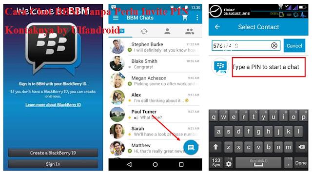 Cara Chat BBM Tanpa Perlu Invite PIN Kontaknya