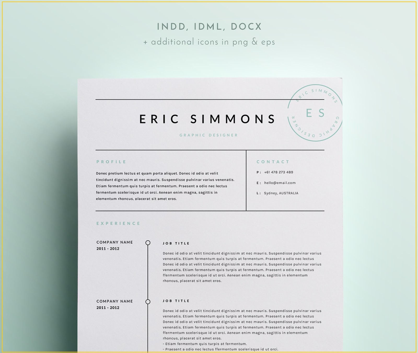 modern clean scannable resume templates indesign koni polycode co