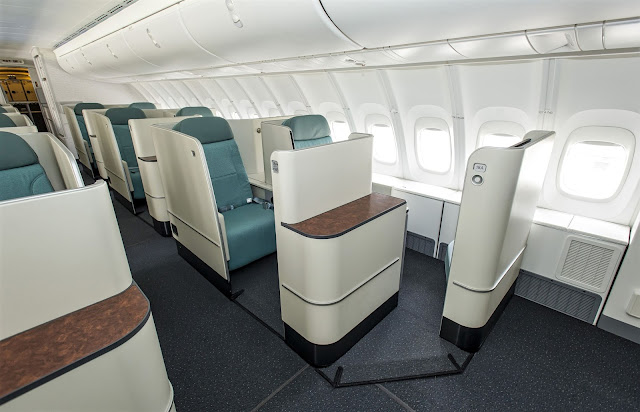 Korean Air Boeing 747-8 First Class Seating Layout