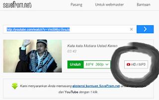 Untuk download video