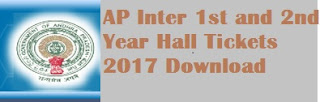 AP inter first Year Hall Ticket, AP Inter second year Hall Ticket