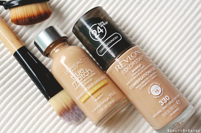 Review: Revlon Colorstay and L'oréal True Match Super Blendable