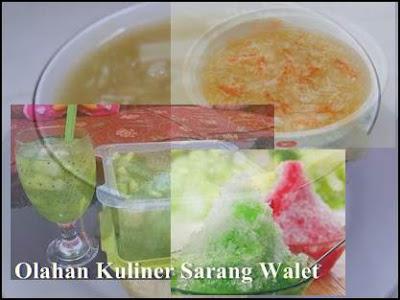 Bisnis Kuliner Sarang Walet Masakan dan minumannya