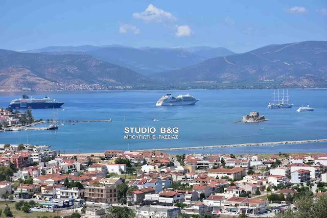 4 κρουαζιερόπλοια σήμερα στο Ναύπλιο (βίντεο)