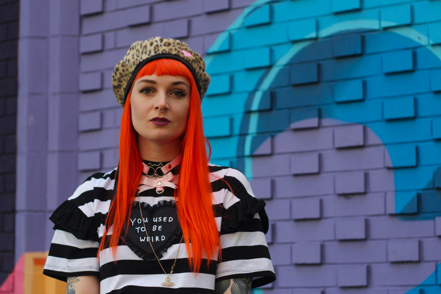 Alternative Fashion Blogger Foxxtailz in Lazy Oaf