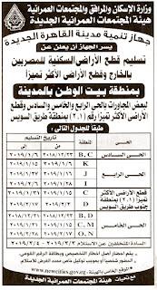 """الأوراق المطلوبة لاستلام أراضي """"بيت الوطن"""" التجمع بالقاهرة الجديدة"""