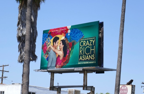 Crazy Rich Asians movie billboard