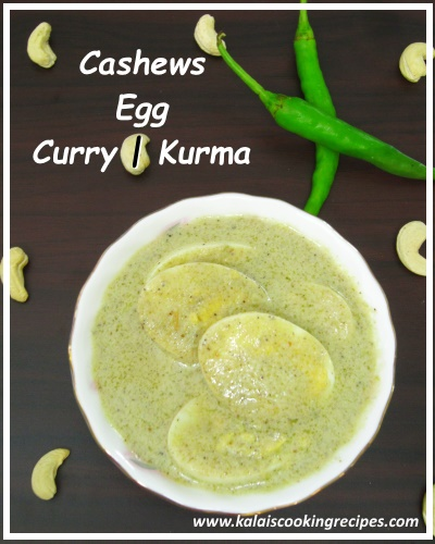 cashews egg kurma curry