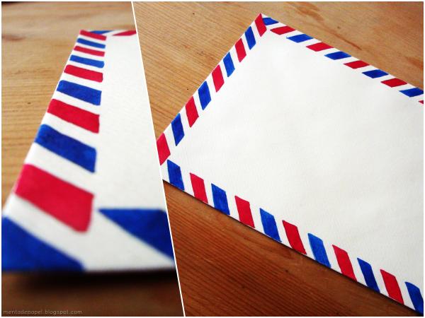 Sobre correo postal aéreo listo.