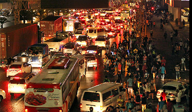Proposing the imposition of congestion taxes for the use of EDSA during peak hours.