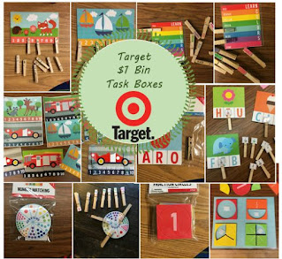 Target Dollar Bin Task Boxes for Special Education