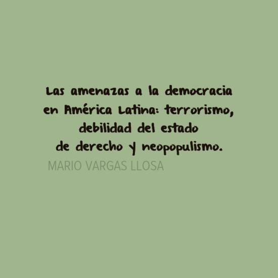 Vargas llosa y su vision politica