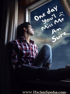 one day u will miss me