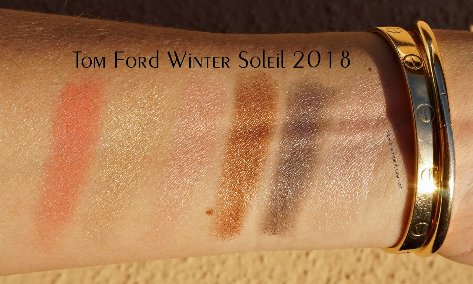 Tom Ford Soleil Eye & Cheek Palette 2018 swatches