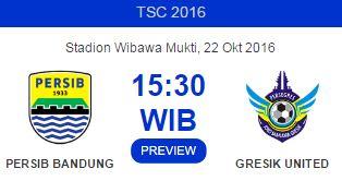 Persib Bandung Jamu Gresik United di Stadion Wibawa Mukti Bekasi